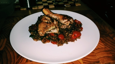 Brined Chicken With Lentil Goulash
