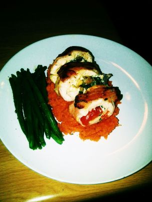 Bacon Wrapped Chicken Roulade