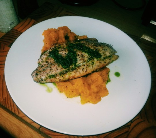 Yellow Tail with Basil Pesto