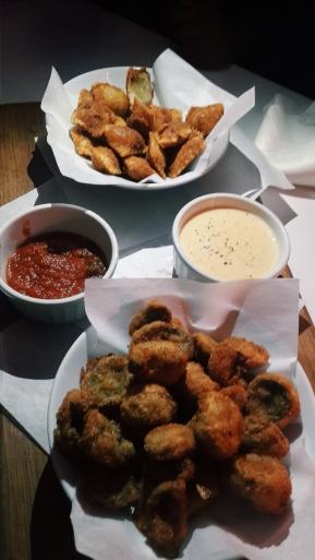 Fried Ravioli & Fried Mushrooms